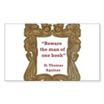 man of one book.jpg Sticker (Rectangle 50 pk)