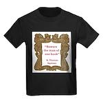 man of one book.jpg Kids Dark T-Shirt