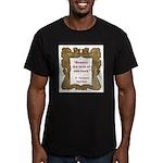 man of one book.jpg Men's Fitted T-Shirt (dark)