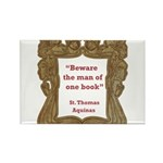 man of one book.jpg Rectangle Magnet