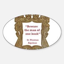 man of one book.jpg Sticker (Oval)
