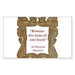 man of one book.jpg Sticker (Rectangle)