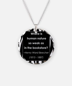 in a bookstore.jpg Necklace