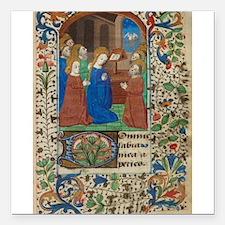 """illumunated manuscript.jpg Square Car Magnet 3"""" x"""