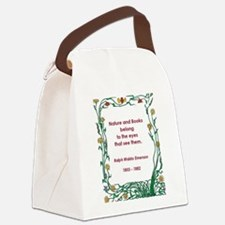nature and books.jpg Canvas Lunch Bag