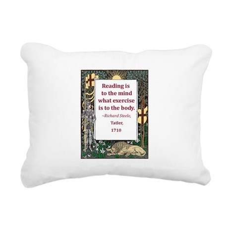 reading is to the mind.jpg Rectangular Canvas Pill
