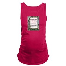 surrounded by books.jpg Maternity Tank Top