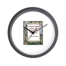 surrounded by books.jpg Wall Clock