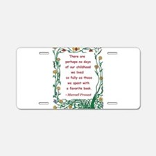 spent with a book.jpg Aluminum License Plate