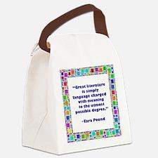 great literature.jpg Canvas Lunch Bag