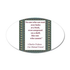 looking at books.jpg 20x12 Oval Wall Decal