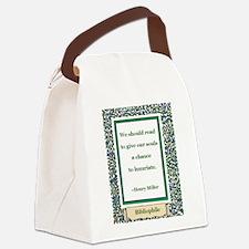 we should read.jpg Canvas Lunch Bag