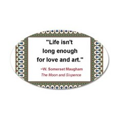 Love isnt long enough.jpg 20x12 Oval Wall Decal