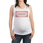reading is sexy.jpg Maternity Tank Top