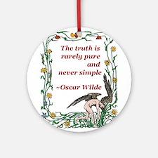 Wilde on truth illuminated.jpg Ornament (Round)
