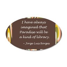 paradise library Borges.jpg Wall Decal