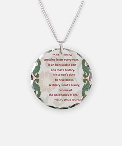 beecher on libraries.jpg Necklace Circle Charm