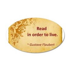 Flaubert quote.jpg 35x21 Oval Wall Decal