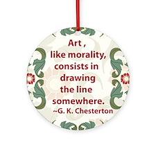 2-chesterton on art.jpg Ornament (Round)