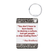 bradbury on books.jpg Keychains