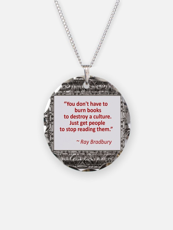bradbury on books.jpg Necklace