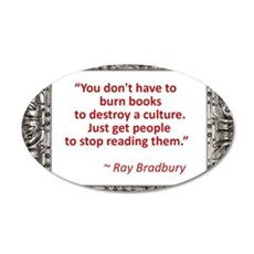 bradbury on books.jpg Wall Decal