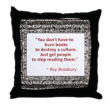 bradbury on books.jpg Throw Pillow
