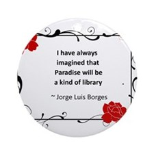 paradise library.jpg Ornament (Round)