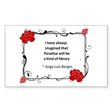 paradise library.jpg Decal