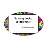 so many books.jpg 35x21 Oval Wall Decal