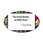 so many books.jpg 20x12 Oval Wall Decal