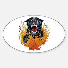 Pantherflamethumbnail.jpg Sticker (oval)