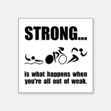 Triathlon Strong Sticker