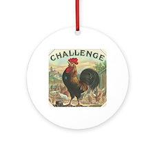 Vintage Rooster Cigar Label Round Ornament