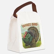 Vintage Turkey Cigar Label Canvas Lunch Bag