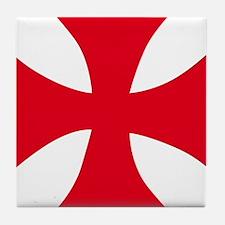 Templar Cross Tile Coaster