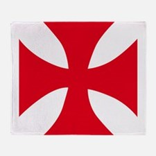 Templar Cross Throw Blanket