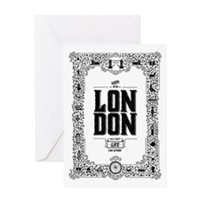 London decorative border Greeting Card
