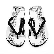 London decorative border Flip Flops