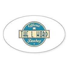 Official The L Word Fanboy Oval Stickers