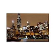 Chicago Skyline Rectangle Magnet