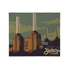Battersea Power Station vintage styl Throw Blanket
