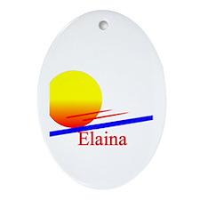Elaina Oval Ornament