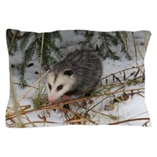 Snow Possum Pillow Case