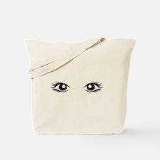 Woman eyes Tote Bag