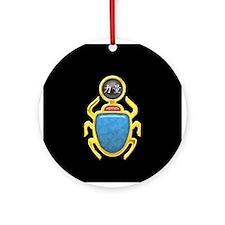 Black Pearl Scarab Ornament (Round)