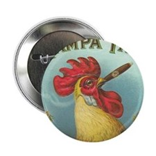 "Vintage Rooster Cigar Label 2.25"" Button"