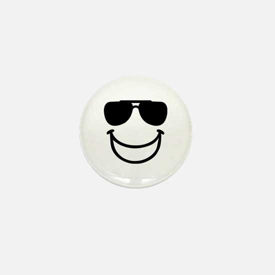 Funny smiley sunglasses Mini Button