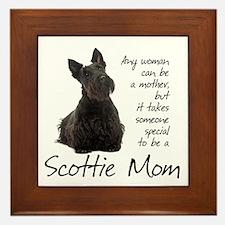 Scottie Mom Framed Tile