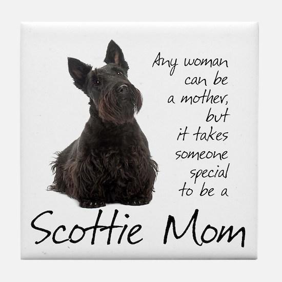 Scottie Mom Tile Coaster